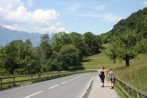 På vei ned fra Schloss Vaduz.