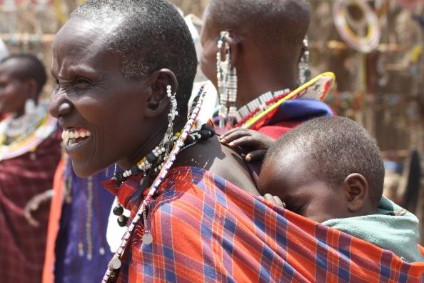 På besøk hos masaiene.